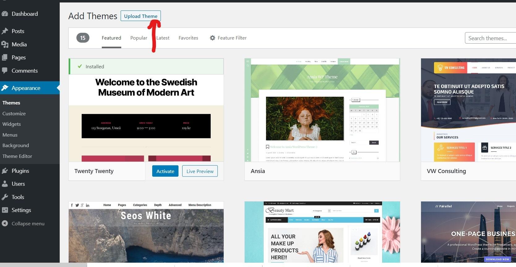 Upload wordpress premium theme_LI-min