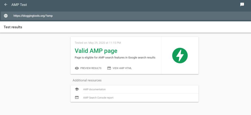 GeneratePress AMP home test