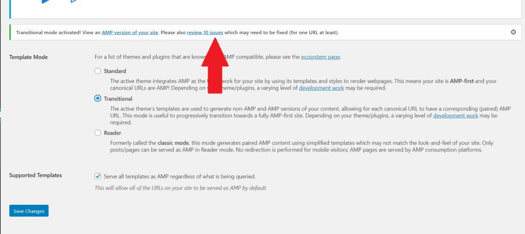 AMP erros GeneratePress