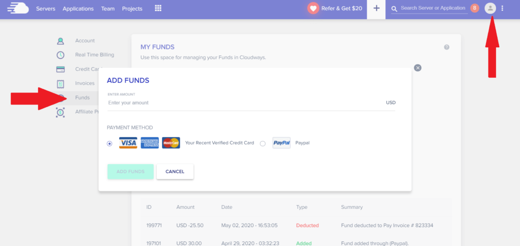 Cloudways funds