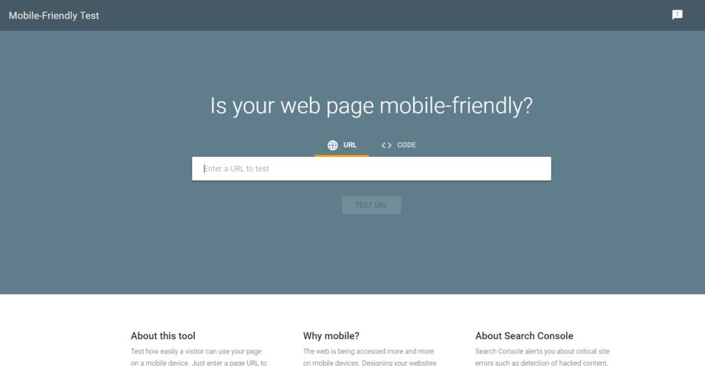 Google Mobile-Friendly Test Tool