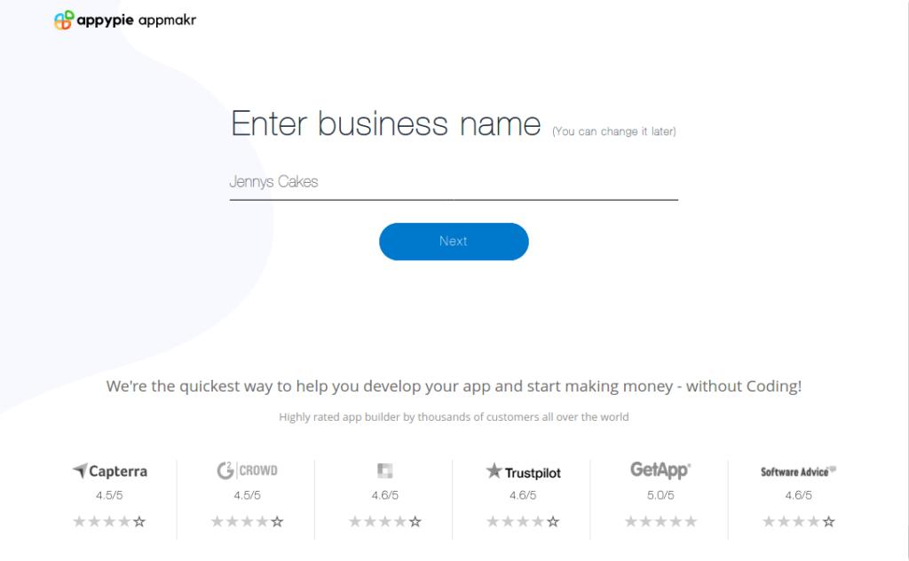 Enter the App name