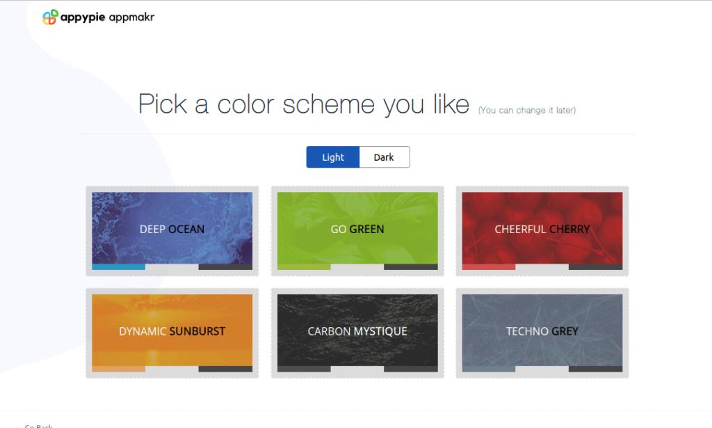 Select a color theme